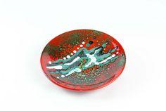 Piatto in ceramica collezione Il Periodo Rosso | KRISMAKER