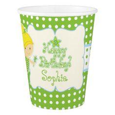 Fairy Birthday, Custom Paper Cup