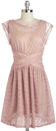 Modcloth A Laud Of Love Dress in Dusty Rose | Lyst