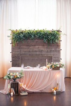 42 Stunning and Romantic Wedding Head Table Backdrop Ideas