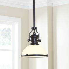 Ophelia & Co. An industrial style with classic finishes, the Proctor Dome Pendant is a versatile overhead lighting choice that can shine on its own or pair together in groups. Bronze, Traditional Pendant Lighting, Overhead Lighting, Lighting Ideas, Gym Lighting, Table Lighting, Island Lighting, Lantern Pendant, Pendant Lights