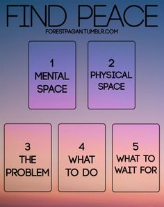 """forestpagan: """" Find Peace Tarot Spread •  Mental Space: This card represents what kind of """"head space"""" you're in. Are you over thinking or analyzing things? Are you anxious about your next move? This will give your some insight into your mental and..."""