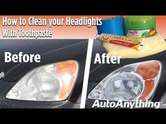 Learn how to use simple house hold products to clean hazy or foggy headlights and restore their natural shine and light output. Foggy Headlights, Headlight Cleaner, Star Nail Designs, Cleaning Solutions, Simple House, Restoration, Household, Sunshine, Wreaths