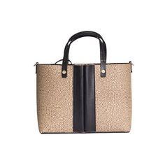 Borbonese o.p. Graffiti Small Hand Bag ($285) ❤ liked on Polyvore featuring bags, handbags, brown, hand bags, brown bag, brown handbags, handbags purses and purse bag