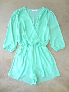 Coronado Romper in Mint