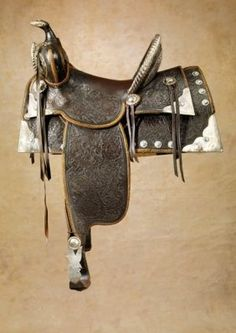 silver parade horse saddles | Found on liveauctioneers.com