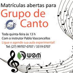 Venha estudar música na WEM,  ensino de qualidade com professores renomados. Metodologia licenciada pela EM&T.