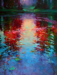 Impressionist Landscape, Landscape Art, Landscape Paintings, Oil Paintings, Young Art, Art Original, Art Techniques, Beautiful Paintings, Belle Photo