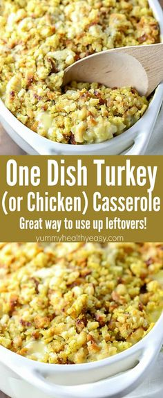 will LOVE this Easy One Dish Turkey (or Chicken) Casserole Recipe! So super . You will LOVE this Easy One Dish Turkey (or Chicken) Casserole Recipe! So super . You will LOVE this Easy One Dish Turkey (or Chicken) Casserole Recipe! So super . Easy Leftover Turkey Recipes, Leftover Turkey Casserole, Leftovers Recipes, Easy Chicken Recipes, Turkey Leftovers, Chicken Casserole With Stuffing, Recipes With Leftover Turkey, Recipe Using Leftover Chicken, Cooked Chicken Recipes Leftovers