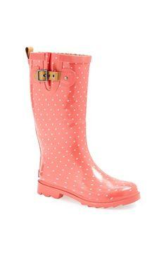 Chooka 'Posh Dot' Rain Boot available at #Nordstrom