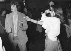John F. Kennedy, Jr. dancing at Studio 54, 1977
