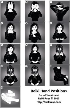 Reiki Hand Positions to get through your day.