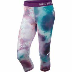 Wiggle | Nike Women's Pro Splatter Capri - SU14 | Compression Base Layers