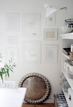 love this idea - put your old recipes in frames in the kitchen