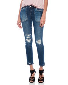 Blanknyc Patched Pocket Skinny Classique Jeans