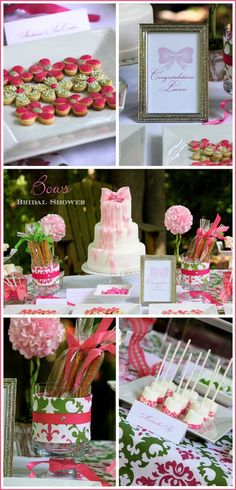 Bow Bridal Shower - amazing blog for sweet table ideas!