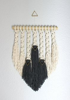 Macrame Wall Hanging Trinity no.2 by HIMO ART One of a by HIMOART