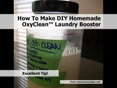 How To Make DIY Homemade OxyClean™ Laundry Booster household recip, homemad oxyclean, diy clean, clean diy, laundri booster, diy homemad, clean stuff