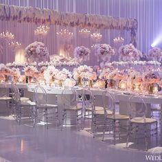 A sparkling purple wonderland! | Photography By: 5ive15ifteen | WedLuxe Magazine | #WedLuxe #Wedding #luxury #weddinginspiration #luxurywedding #weddingreception #centerpiece #tabledecor
