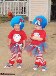 Thing 1 and Thing 2 - Halloween Costume Contest via @costume_works