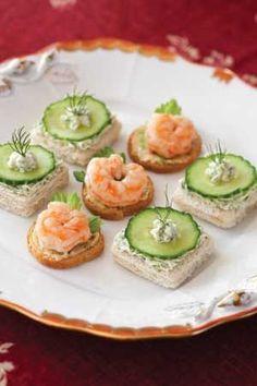 Delicate sandwiches for tea