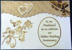 Husband Wife Golden Wedding Anniversary on Craftsuprint designed by Barbara… Marriage Anniversary Wishes Quotes, Anniversary Poems For Husband, Anniversary Cards For Husband, Funny Anniversary Cards, Birthday Cards For Boyfriend, Golden Wedding Anniversary, Happy Birthday Cards, Invitation Card Printing, Photo Invitations