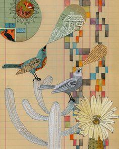 enjoying this collage artwork
