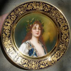 Royal Vienna Portrait Plate   Royal Vienna Portrait Plates by Wagner - FREE Online Appraisal