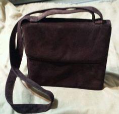 EPISODE Brown Suede Crossbody Leather Handbag Shoulder Bag NICE in Handbags & Purses   eBay