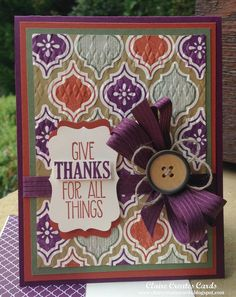 Give Thanks For All Things--PP 213 Claire Creates Cards