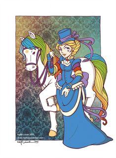 victorian rainbow brite by ~katiecandraw on deviantART Steampunk Rainbow Brite.great for a Pride event. Rainbow Brite, Steampunk Costume, Geek Out, Childhood Memories, 1980s Childhood, My Little Pony, Smurfs, Nerdy, Geek Stuff