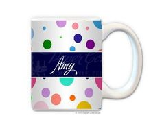 White Crazy Dots Coffee Mug from Paper Concierge