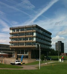 Here is the library at the Colchester campus of the University of Essex. A fantastic new student centre is being added to this