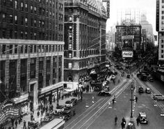 vintage photos of times square | New York old photos