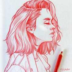 New illustrations, sketches and original art work by Rik Lee — Rik Lee - Ji Girl Drawing Sketches, Illustration Art Drawing, Cute Drawings, Girl Sketch, Easy Realistic Drawings, Sketches Of Girls, Tumblr Sketches, Art Illustrations, Drawing Ideas