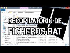 Archivos BAT para acticar/desactivar funciones de Windows 10