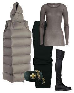 Puffer Szn #Winter17 by mh3914rp on Polyvore featuring polyvore, fashion, style, Rick Owens, Versace and clothing