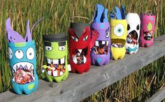 Preschool Crafts for Kids*: Halloween Recycled Bottle Monster Crafts