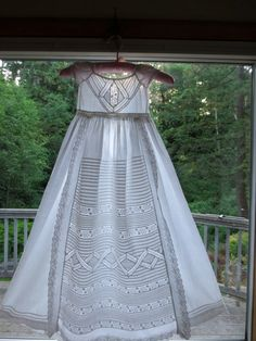 Mid1800's Sweet Ayrshire Hand Embroidered by HalcyoneVintage, $125.00