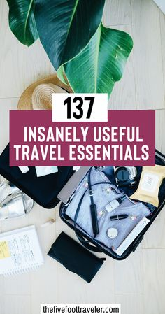 "137 Travel Essentials: the Most Comprehensive Packing List EVER! This is everything you can possibly need when packing for a trip. It's a guideline for the most efficient ways to go about packing your travel essentials. Find the most useful carry on essentials, packing and clothing essentials, outdoor essentials, fitness ""on the go"" essentials, reading essentials, and business management essentials. 