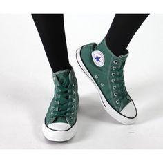 Converse Chucks Hi Canvas Basic Washed P. Green