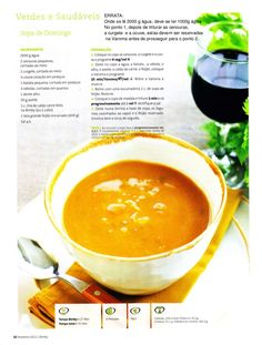 Revista bimby 2011.02 n03 Soup Recipes, Healthy Recipes, Happy Foods, Cheeseburger Chowder, Food And Drink, Menu, Yummy Food, Favorite Recipes, Dinner