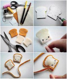 Amazing DIY Things You Can Make at Home. – Techno-Web Diy Decorating diys to do at home Felt Crafts Diy, Felt Diy, Cute Crafts, Creative Crafts, Fabric Crafts, Sewing Crafts, Sewing Projects, Crafts For Kids, Felt Food