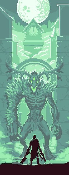 Polycount Forum - View Single Post - PIXEL ART: Pixel art from bloodborne. This is the Cleric Beast. Cool monster design in a video game. Pixel Art Gif, How To Pixel Art, Cool Pixel Art, Pixel Art Games, Cool Art, Illustrations, Illustration Art, Arte 8 Bits, Bloodborne Art