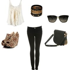 Rocker, created by melissalovee21 on Polyvore except the shoes