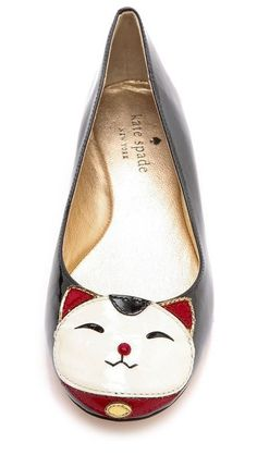Kate Spade New York Jimi Cat Flats. I want these!!! Maybe I can use my old flats to make a pair like these!
