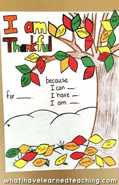 A fun Thanksgiving Craft that helps kids think about why they are thankful. The craft can last all month long as kids add a leaf each day with a thankful idea. Includes a graphic organizer and multiple templates. Thanksgiving Crafts For Kids, Thanksgiving Parties, Thanksgiving Activities, Holiday Activities, Fall Crafts, Kids Crafts, November Crafts, Thankful Tree, Books For Moms