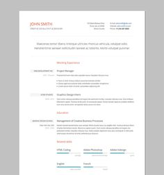 resume template in html format single page resume 5 cv template resume cv cover letter - Resume In Html Format