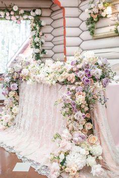 Decor: @kristina.decor #kristinaageeva wedding, bride, classic, orchids, peonies, pink, lace, wedding, young table, wedding table, floral table cloth, wedding flowers, flowers, table, wedding decor