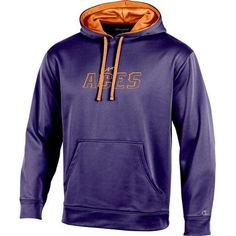 Champion Men's University of Evansville T-Formation Hoodie (Purple, Size Large) - NCAA Licensed Product, NCAA Men's Fleece/Jackets at Academy Sports